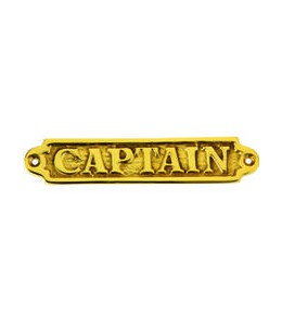 plaque CAPTAIN